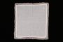 Embroidered white handkerchief with crochet border brought with a Polish Jewish emigre