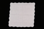 Embroidered white handkerchief with scalloped edge brought with a Polish Jewish emigre