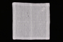 Embroidered white handkerchief with woven lines brought with a Polish Jewish emigre