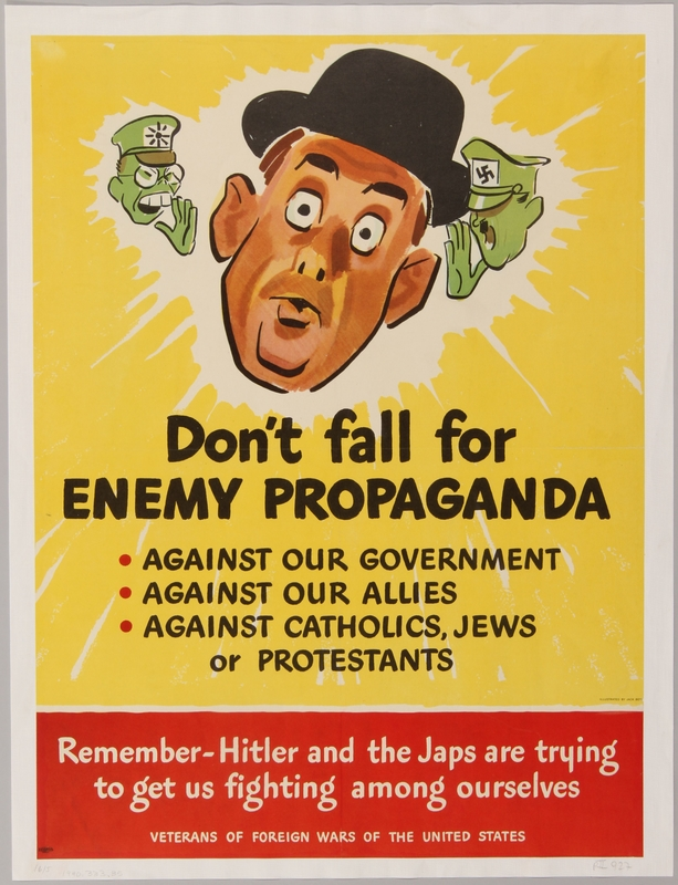 1990.333.35 front Don't fall for Enemy Propaganda