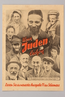 1990.333.37 front Anti-semitic propaganda poster  Click to enlarge