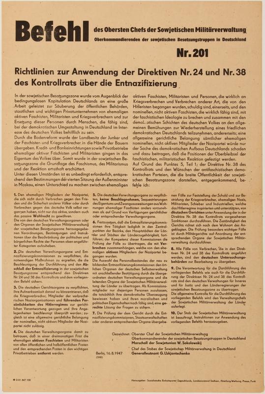 1990.333.42 front Befehl Nr. 201