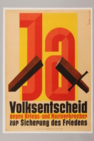 1990.333.43 front De-Nazification poster  Click to enlarge