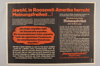 1990.333.49 front Anti-United States, anti-semitic poster  Click to enlarge