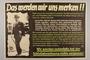 German propaganda poster mocking British defeats and criticizing politician Duff Cooper