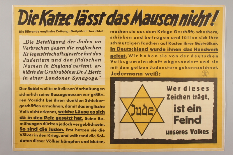 1990.333.56 front Antisemitic poster