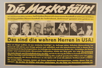1990.333.58 front German antisemitic poster alleging Roosevelt's Brain Trust is comprised of Jews  Click to enlarge
