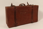 Brown leather suitcase used by a Polish Jewish refugee family