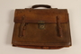 Leather briefcase used to hold family papers by Jewish refugees
