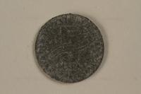 1990.335.41 back Łódź (Litzmannstadt) ghetto scrip, 5 mark coin  Click to enlarge