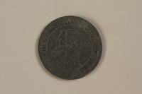 1990.335.42 back Łódź (Litzmannstadt) ghetto scrip, 10 mark coin  Click to enlarge