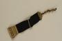 Black ribbon watch fob from prewar Netherlands