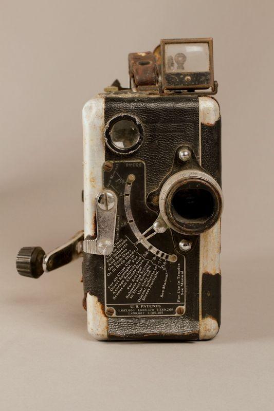 Stan Baker collection, 16mm film camera Kodak 16mm movie camera used by an American in prewar Vienna