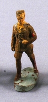 Toy Nazi SA figurine in a brown uniform with swastika armband acquired by a US family in Vienna  Click to enlarge