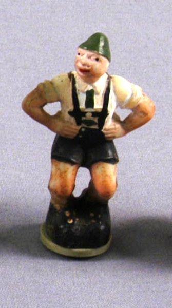 Toy figurine of a man in traditional Austrian dress acquired by a US family in prewar Vienna