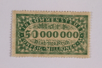 2006.265.16 front Income tax stamp, 50 million marks, issued in Weimar Germany  Click to enlarge