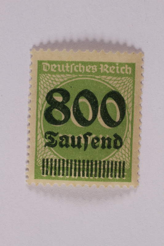 2006.265.39 front Postage stamp, 300 mark, issued in Germany during hyperinflation in the Weimar Republic