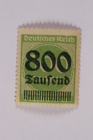 2006.265.39 front Postage stamp, 300 mark, issued in Germany during hyperinflation in the Weimar Republic  Click to enlarge