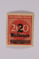2006.265.62 font Postage stamp, 200 mark, issued in Germany during hyperinflation in the Weimar Republic  Click to enlarge