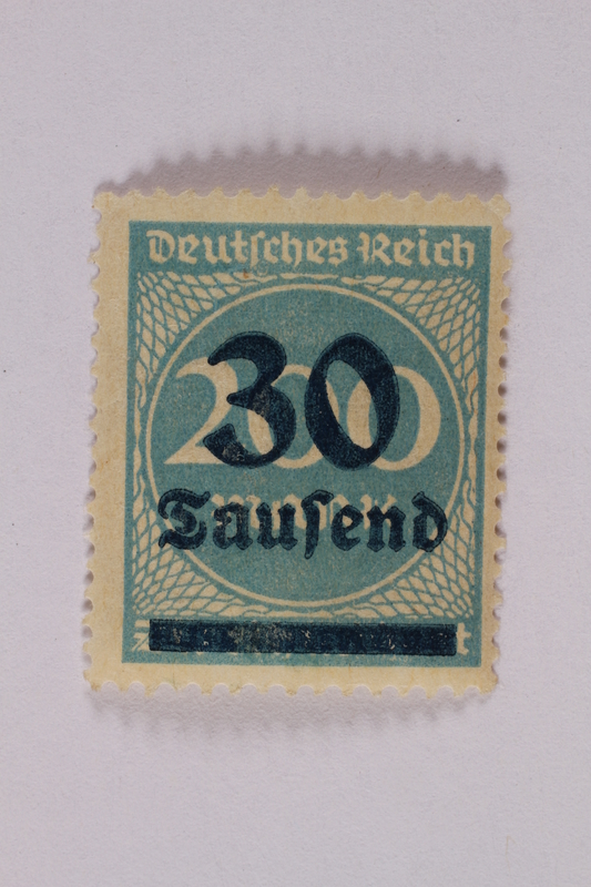 2006.265.64 font Postage stamp, 200 mark, issued in Germany during hyperinflation in the Weimar Republic