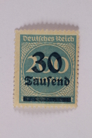 2006.265.64 font Postage stamp, 200 mark, issued in Germany during hyperinflation in the Weimar Republic  Click to enlarge