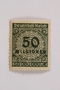 Postage stamp, 50 milionen mark, issued in Germany during hyperinflation in the Weimar Republic