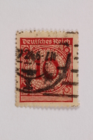 2006.265.131 front Postage stamp, 10 mark, issued in Germany during hyperinflation in the Weimar Republic  Click to enlarge
