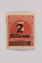 Postage stamp, 5 tausend mark, issued in Germany during hyperinflation in the Weimar Republic