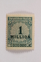 Postage stamp, 1 million mark, issued in Germany during hyperinflation in the Weimar Republic