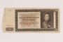 German occupation currency note, 500 kronen, issued in the Protectorate of Bohemia and Moravia