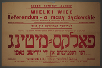 2002.484.2 front Jewish communty poster for a postwar referendum  Click to enlarge