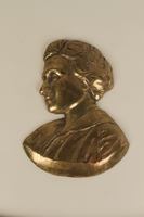 1990.41.10 front Metal portrait bust of Rosa Luxemburg  Click to enlarge