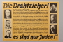 Anti-Semitic propaganda poster with pictures of several prominent Jewish figures