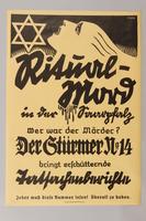 1990.41.19 front Poster advertisment for Der Sturmer  Click to enlarge