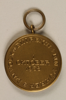 2009.361.1 back Medal commemorating the October 1, 1938, annexation of the Sudetenland by Nazi Germany  Click to enlarge