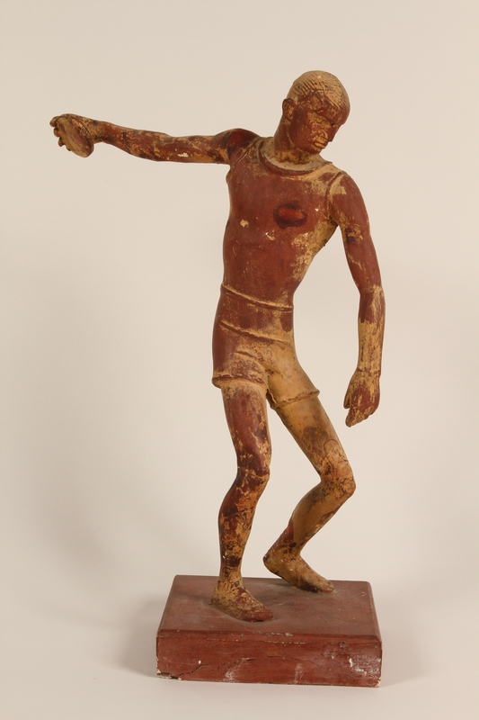 1990.47.1 front Sculpture of a discus thrower used to teach racial science in Nazi Germany