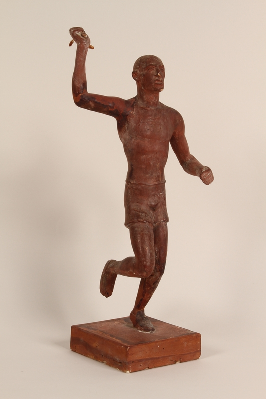 1990.47.2 front Sculpture of a runner used to teach racial science in Nazi Germany