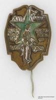 2009.364.5, Stickpin from Esperanto conference, with soldier and green star, Tom T. Kovary Collection