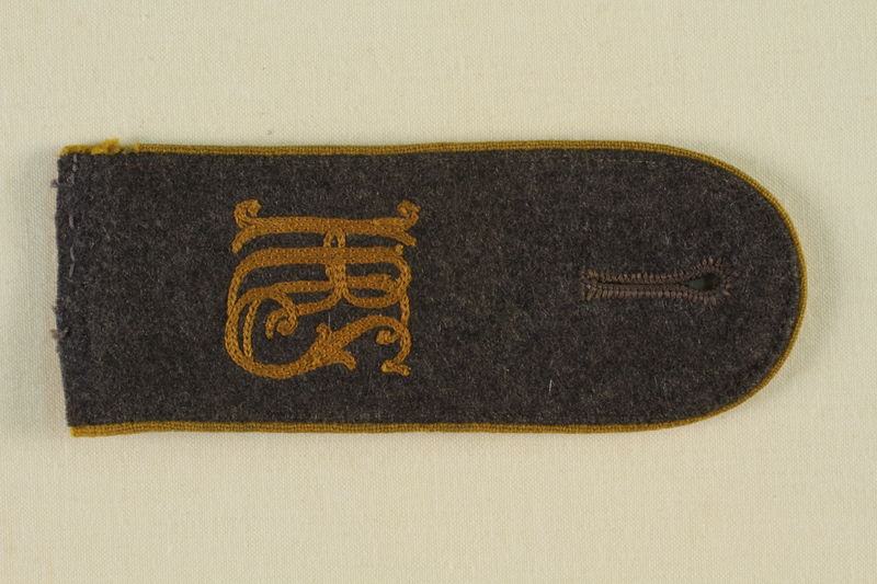 1985.1.13 front Luftwaffe KRS shoulder board with gold piping acquired by US soldier