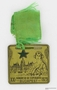 World Congress of Esperanto medallion with an image of woman and a view of Budapest owned by a Czech Jewish refugee