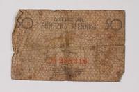 1990.60.1 back Łódź (Litzmannstadt) ghetto scrip, 50 pfennig note  Click to enlarge