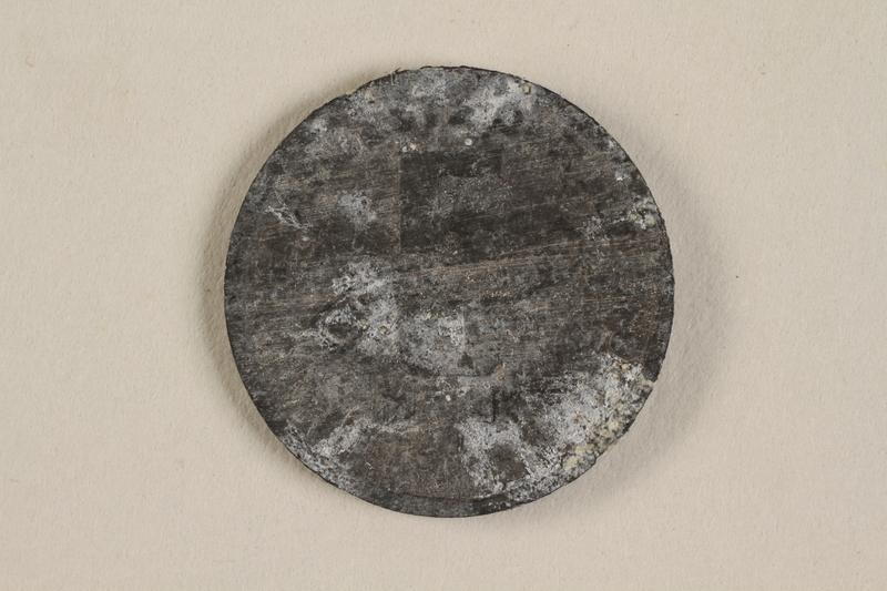 1990.60.10 back Łódź (Litzmannstadt) ghetto scrip, 5 mark coin