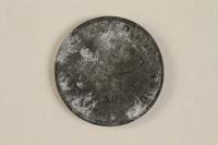 1990.60.11 back Łódź (Litzmannstadt) ghetto scrip, 5 mark coin  Click to enlarge