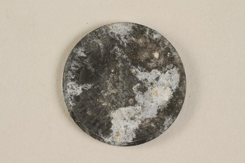 1990.60.12 back Łódź (Litzmannstadt) ghetto scrip, 5 mark coin