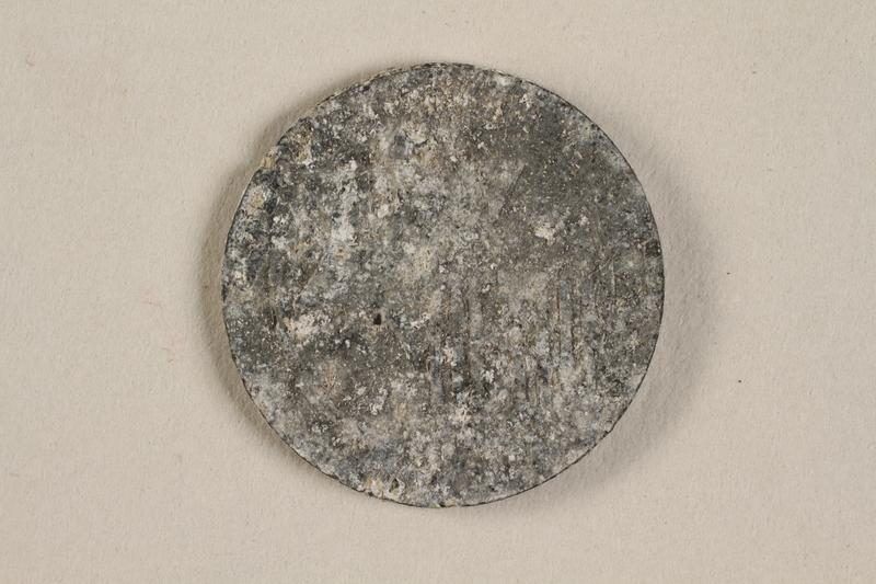 1990.60.13 front Łódź (Litzmannstadt) ghetto scrip, 5 mark coin