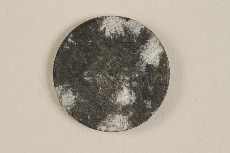 1990.60.14 front Łódź (Litzmannstadt) ghetto scrip, 5 mark coin