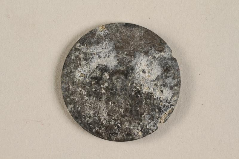 1990.60.15 front Łódź (Litzmannstadt) ghetto scrip, 5 mark coin