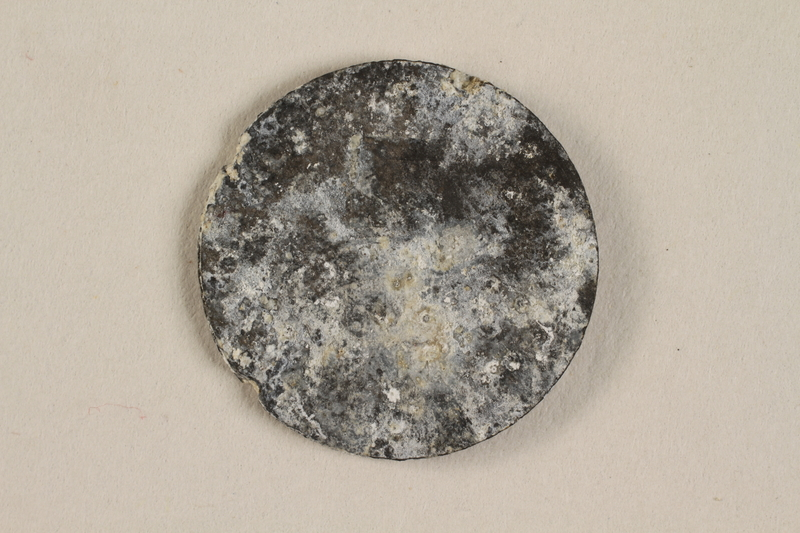 1990.60.15 back Łódź (Litzmannstadt) ghetto scrip, 5 mark coin