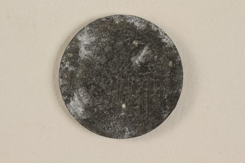 1990.60.16 front Łódź (Litzmannstadt) ghetto scrip, 5 mark coin