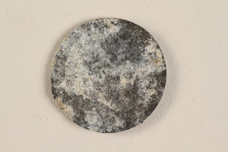 1990.60.17 front Łódź (Litzmannstadt) ghetto scrip, 5 mark coin